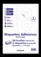 20 Planches A4 - 2 étiquettes diametre 114 mm autocollantes mutimedia CD par planche pour tous types imprimantes - Jet d'encre/laser/photocopieuse
